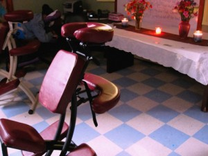 Educators Receive Chair Massage