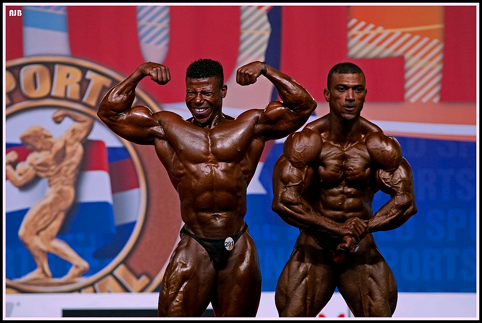 Bodybuilders Feeling the Burn.