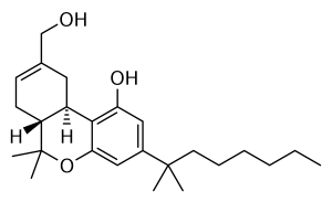 HU-210. A synthetic anandamide receptor chemical. Note the similarities to THC, an actual cannabis-derived cannabinoid.