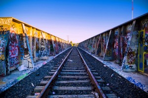 """""""Track Marks"""" by Travis Leach. The Kids By The Train Tracks."""