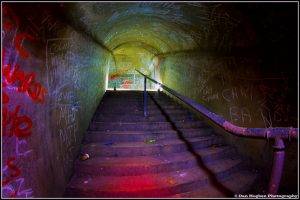 Air Raid Tunnels Protected People During WW II. Image Credit: DiscDan