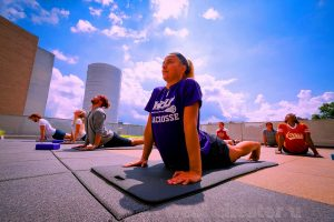 Yoga Class. Image Credit: License by CC from WestChester U